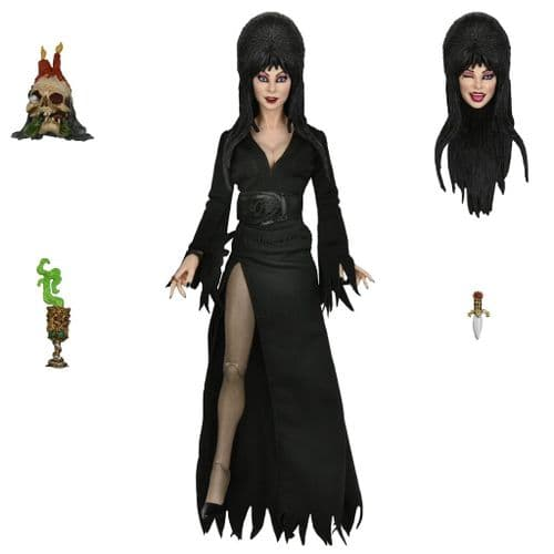 """ELVIRA MISTRESS OF THE DARK 8"""" SCALE  CLOTHED ACTION FIGURE FROM NECA"""