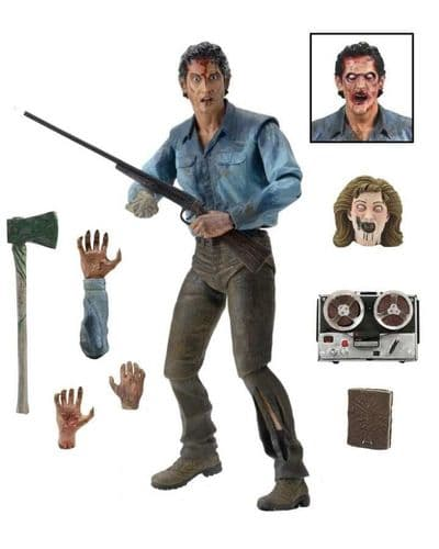"""EVIL DEAD 2 - ULTIMATE ASH 7"""" SCALE ACTION FIGURE FROM NECA"""
