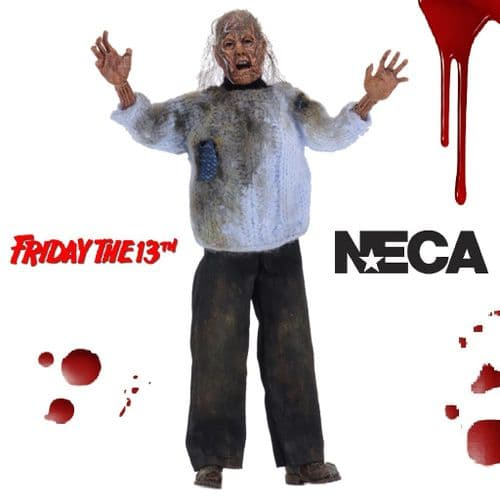 "FRIDAY THE 13TH 8"" CLOTHED CORPSE PAMELA VOORHEES ACTION FIGURE FROM NECA"