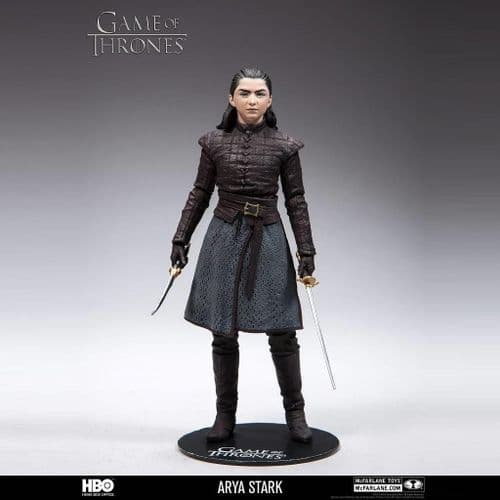 "GAME OF THRONES 6"" SCALE ARYA STARK ACTION FIGURE FROM MCFARLANE TOYS"