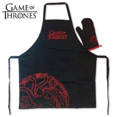 GAME OF THRONES TARGARYEN APRON AND OVEN MITT SET FROM SD TOYS
