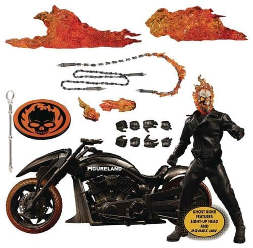 GHOST RIDER AND HELL CYCLE ONE:12 COLLECTIVE SET FROM MEZCO TOYZ