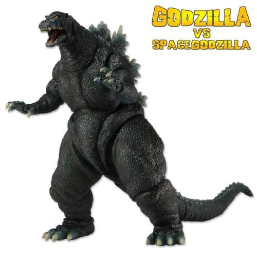 "GODZILLA 12"" HEAD TO TAIL GODZILLA VS SPACEGODZILLA 1994  GODZILLA ACTION FIGURE FROM NECA"