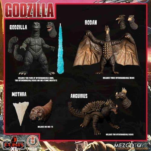 GODZILLA DESTROY ALL MONSTERS (1968) 5 POINTS XL ROUND 1 BOXED SET FROM MEZCO TOYZ