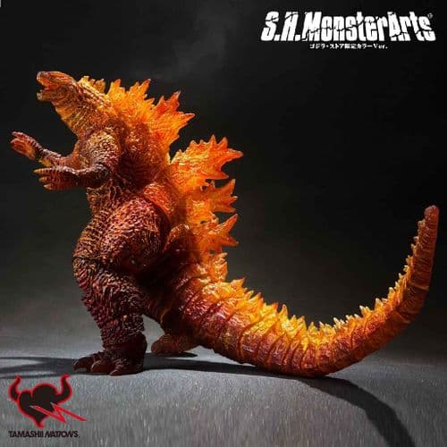 GODZILLA S.H MONSTERSARTS 2019 BURNING GODZILLA ACTION FIGURE FROM BANDAI TAMASHII NATIONS