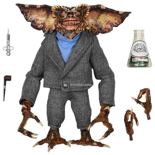 """GREMLINS 2 ULTIMATE BRAIN GREMLIN 7"""" SCALE ACTION FIGURE FROM NECA"""