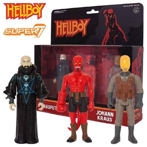 HELLBOY REACTION  ACTION FIGURES WAVE 2 FROM SUPER7