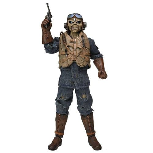 """IRON MAIDEN ACES HIGH EDDIE 8"""" CLOTHED ACTION FIGURE FROM NECA"""