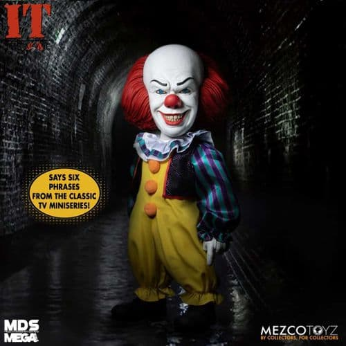 """IT (1990) 15"""" MDS MEGA SCALE TALKING PENNYWISE FIGURE FROM MEZCO TOYZ"""