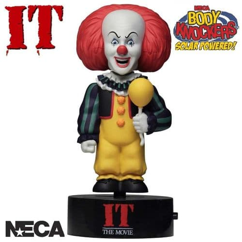 IT 1990 PENNYWISE SOLAR POWERED BODY KNOCKER FROM NECA