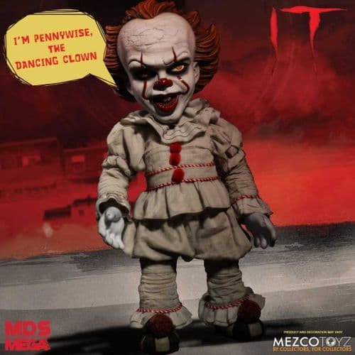 "IT (2017) 15"" MEGA SCALE TALKING PENNYWISE FIGURE FROM MEZCO TOYZ"