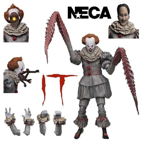 IT (2017) ULTIMATE DANCING CLOWN PENNYWISE ACTION FIGURE FROM NECA
