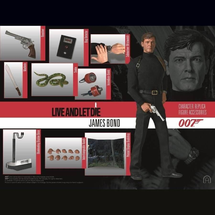 JAMES BOND LIVE AND LET DIE JAMES BOND 007 1:6 SCALE LIMITED EDITION FIGURE FROM BIG CHIEF STUDIOS