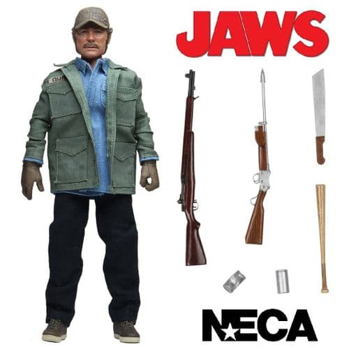 "JAWS - SAM QUINT  8"" CLOTHED ACTION FIGURE FROM NECA"