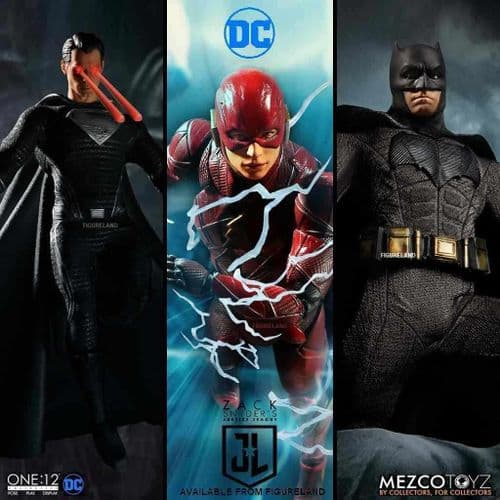 JUSTICE LEAGUE ONE:12 COLLECTIVE ZACK SNYDER'S JUSTICE LEAGUE DELUXE STEEL BOXED SET FROM MEZCO TOYZ