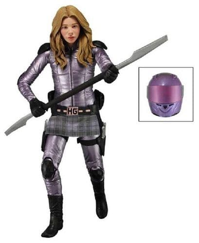 "KICK-ASS 2 SERIES 2 - 7"" UNMASKED HIT GIRL ACTION FIGURE FROM NECA"