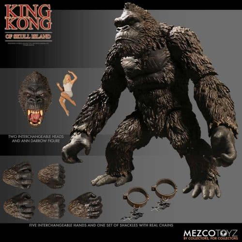 "KING KONG OF SKULL ISLAND 7"" ACTION FIGURE FROM MEZCO TOYZ"