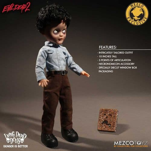 LIVING DEAD DOLLS EVIL DEAD 2 DEADITE ASH EXCLUSIVE VARIANT FROM MEZCO TOYZ