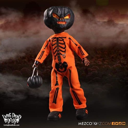 LIVING DEAD DOLLS JACK O' LANTERN ORANGE VARIANT EXCLUSIVE FIGURE FROM MEZCO TOYZ