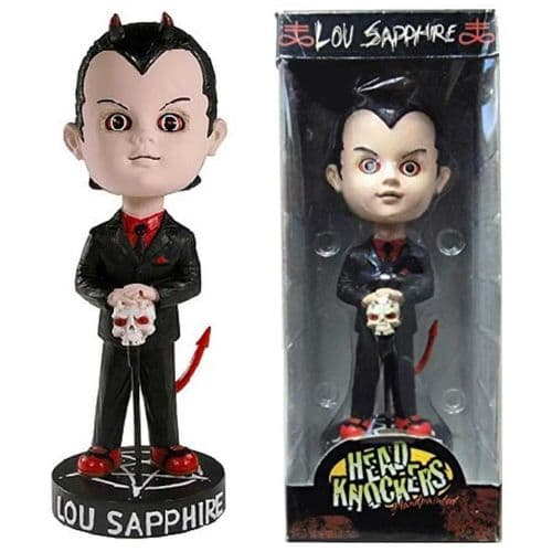 LIVING DEAD DOLLS LOU SAPPHIRE HEAD KNOCKER FROM NECA