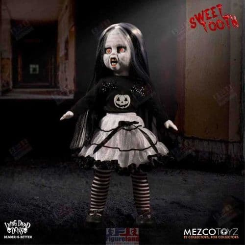 LIVING DEAD DOLLS SWEET TOOTH BLACK AND WHITE HALLOWEEN FALL EXCLUSIVE FROM MEZCO TOYZ