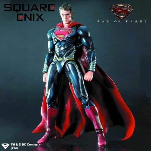 MAN OF STEEL PLAY ARTS KAI SUPERMAN ACTION FIGURE FROM SQUARE ENIX