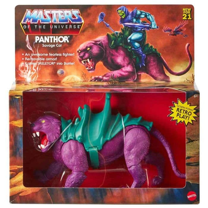 MASTERS OF THE UNIVERSE ORIGINS 2021 PANTHOR  ACTION FIGURE FROM MATTEL