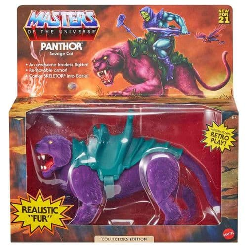MASTERS OF THE UNIVERSE ORIGINS 2021 PANTHOR FLOCKED COLLECTORS EDITION EXCLUSIVE FROM MATTEL