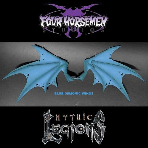 MYTHIC LEGIONS: ARETHYR BLUE DEMONIC WINGS ACTION FIGURE ACCESSORY FROM FOUR HORSEMEN STUDIOS