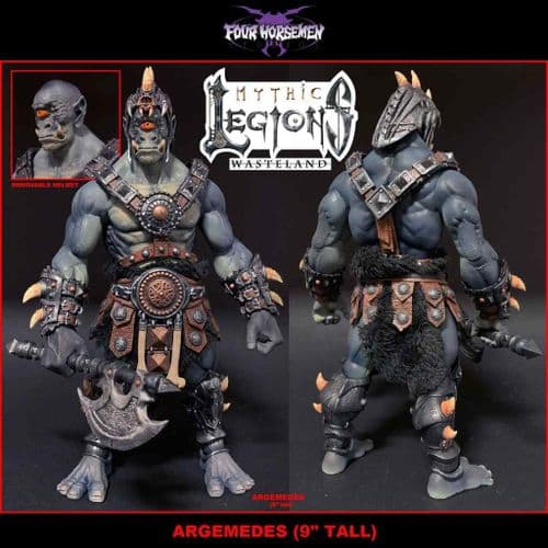 MYTHIC LEGIONS: WASTELAND ARGEMEDES ACTION FIGURE FROM FOUR HORSEMEN STUDIOS