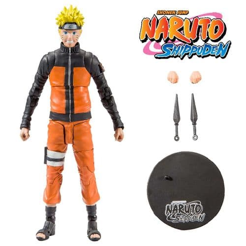 "NARUTO SHIPPUDEN NARUTO UZUMAKI VERSION 2 7"" ACTION FIGURE FROM MCFARLANE TOYS"