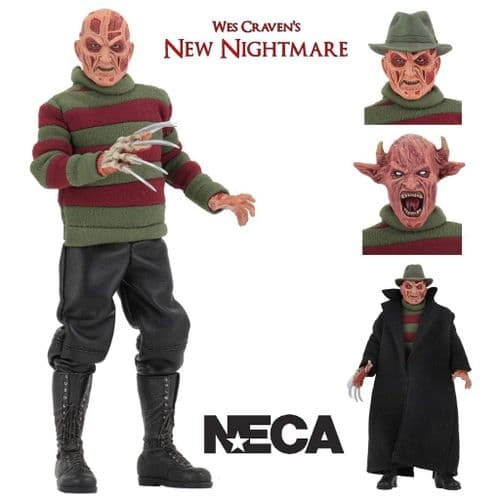 "NEW NIGHTMARE  8"" CLOTHED FREDDY ACTION FIGURE FROM NECA"