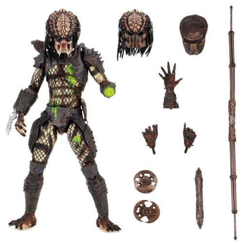 PREDATOR 2 ULTIMATE BATTLE DAMAGED CITY HUNTER 7 INCH SCALE ACTION FIGURE FROM NECA
