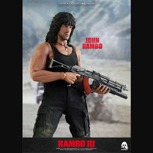 RAMBO III JOHN RAMBO 1:6 SCALE ACTION FIGURE FROM THREEZERO