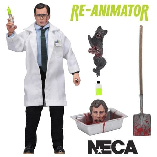 "RE-ANIMATOR HERBERT WEST 8"" CLOTHED ACTION FIGURE FROM NECA"