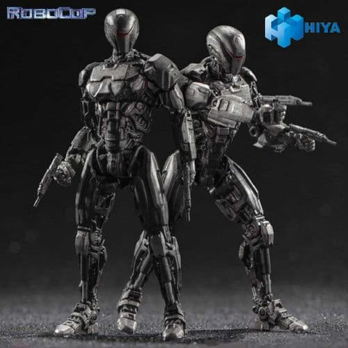 ROBOCOP 2014 OMNICORP EM-208 ENFORCEMENT DROID 1:18 ACTION FIGURE 2 PACK FROM HIYA TOYS
