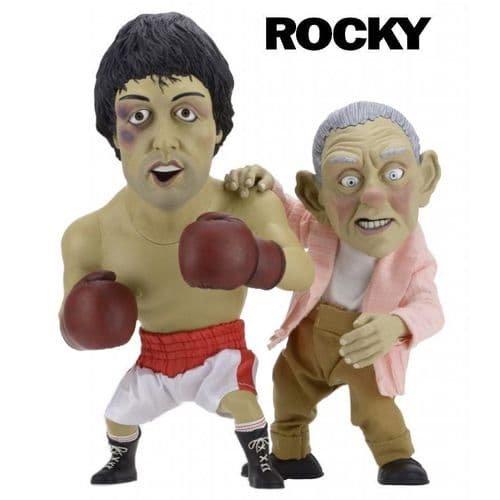 "ROCKY LIMITED EDITION ""ROCKY AND MICKEY PUPPETS"" MAQUETTES SET FROM NECA"