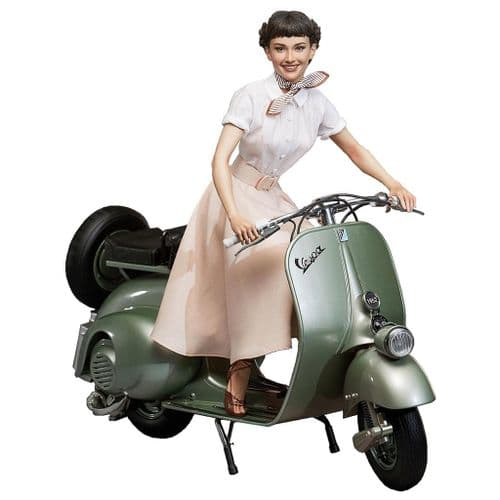 ROMAN HOLIDAY 1:4 PRINCESS ANN (AUDREY HEPBURN) SUPERB SCALE STATUE WITH 1951 VESPA FROM BLITZWAY
