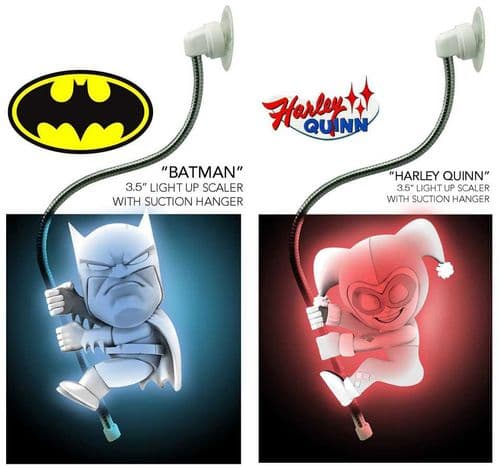 "SCALERS -  DC COMICS BATMAN & HARLEY QUINN LIGHT-UP 3.5"" CHARACTERS FROM NECA"