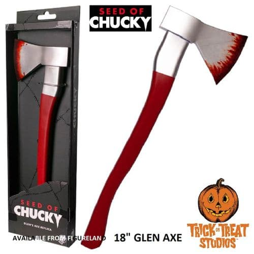 SEED OF CHUCKY GLEN AXE 1:1 SCALE PROP REPLICA FROM TRICK OR TREAT STUDIOS
