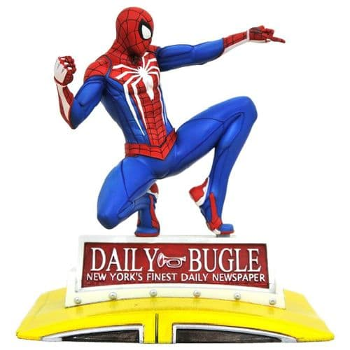 SPIDER-MAN ON TAXI MARVEL GALLERY PS4 PVC DIORAMA FROM DIAMOND SELECT TOYS