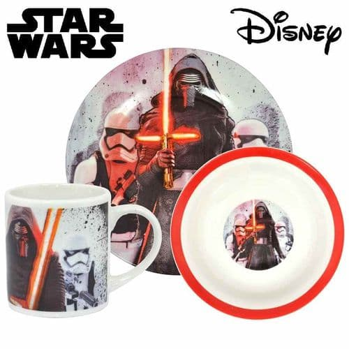 STAR WARS EPISODE VII KYLO REN AND STORMTROOPERS CHILDRENS BREAKFAST SET FROM SD TOYS