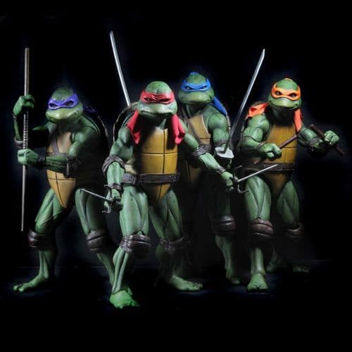 TEENAGE MUTANT NINJA TURTLES (1990 MOVIE) 1:4 SCALE TMNT ACTION FIGURE ASSORTMENT FROM NECA