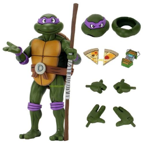 TEENAGE MUTANT NINJA TURTLES CARTOON 1:4 SCALE GIANT SIZE DONATELLO ACTION FIGURE FROM NECA