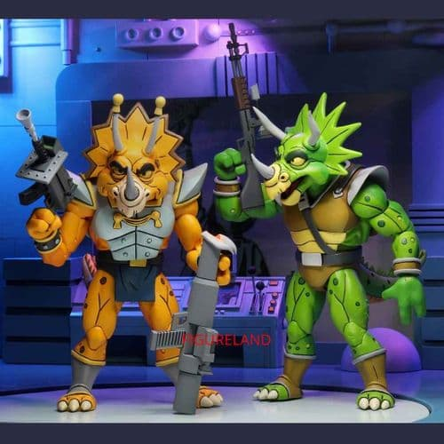 TEENAGE MUTANT NINJA TURTLES CARTOON SERIES CAPTAIN ZARAX AND ZORK 2 PACK FROM NECA