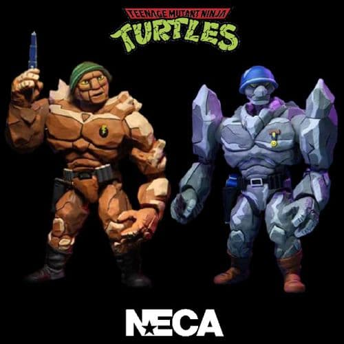 TEENAGE MUTANT NINJA TURTLES CARTOON SERIES GENERAL TRAAG AND LT. GRANITOR 2 PACK FROM NECA