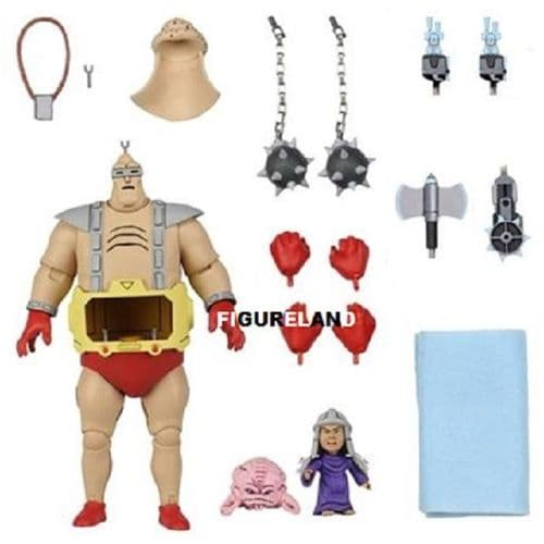 TEENAGE MUTANT NINJA TURTLES CARTOON SERIES KRANG'S ANDROID BODY ACTION FIGURE FROM NECA