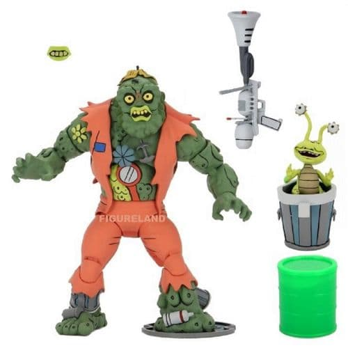 TEENAGE MUTANT NINJA TURTLES CARTOON SERIES MUCKMAN ACTION FIGURE FROM NECA