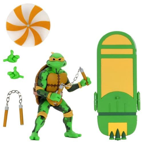 TEENAGE MUTANT NINJA TURTLES SERIES 2 TURTLES IN TIME MICHELANGELO ACTION FIGURE FROM NECA