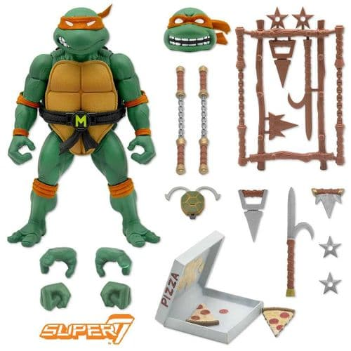 TEENAGE MUTANT NINJA TURTLES ULTIMATES ACTION FIGURE MICHELANGELO FROM SUPER7